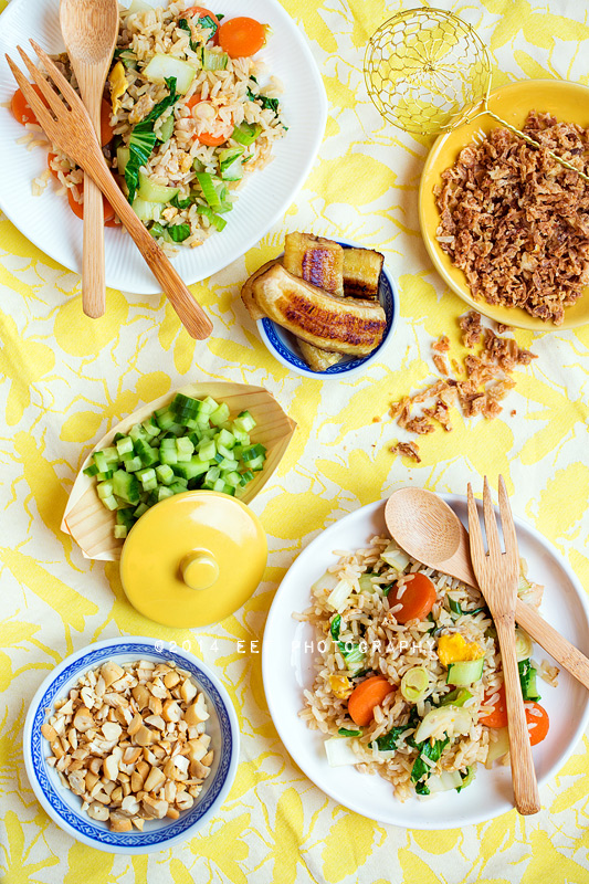 Vegetarische rijsttafel