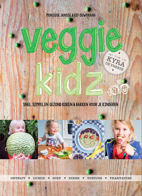 Het vegetarische kookboek Veggie Kidz van Monique Jansse, Eef Ouwehand en Kyra de Vreeze is hét kookboek voor ouders die verantwoord, gemakkelijk en vegetarisch voor hun kinderen willen koken en bakken. De recepten in Veggie Kidz zijn snel, gemakkelijk en gemaakt met verse en pure ingrediënten, vrij van E-nummers en suikervrij.