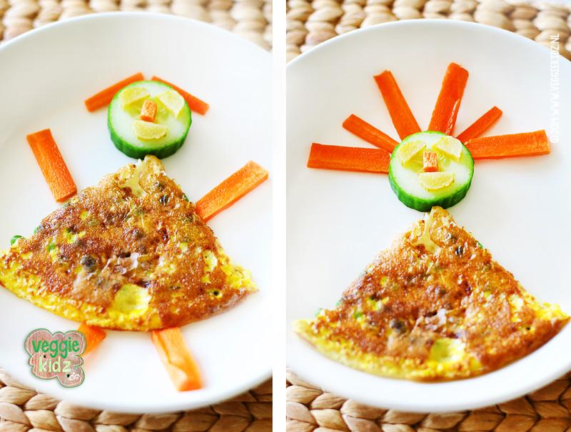 Omelet met erwtjes #erwtjes #omelet #veggiekidz