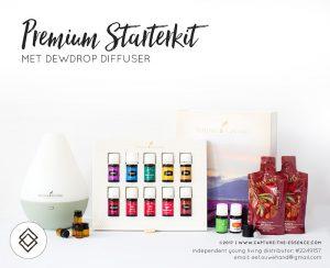 Essentiele olien, premium starterkit young living, dewdrop diffuser