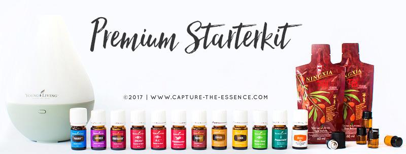 essentiele olien, young living, premium starterkit met dewdrop diffuser